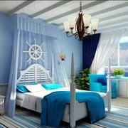 紫蓝色梦幻卧室欣赏
