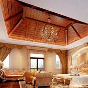卧室生态木吊顶