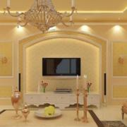 米黄色的客厅欣赏