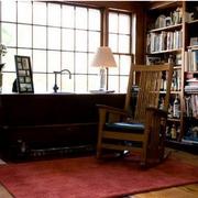深色系复古书房展示
