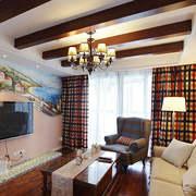 客厅轻快电视墙不规则户型装修