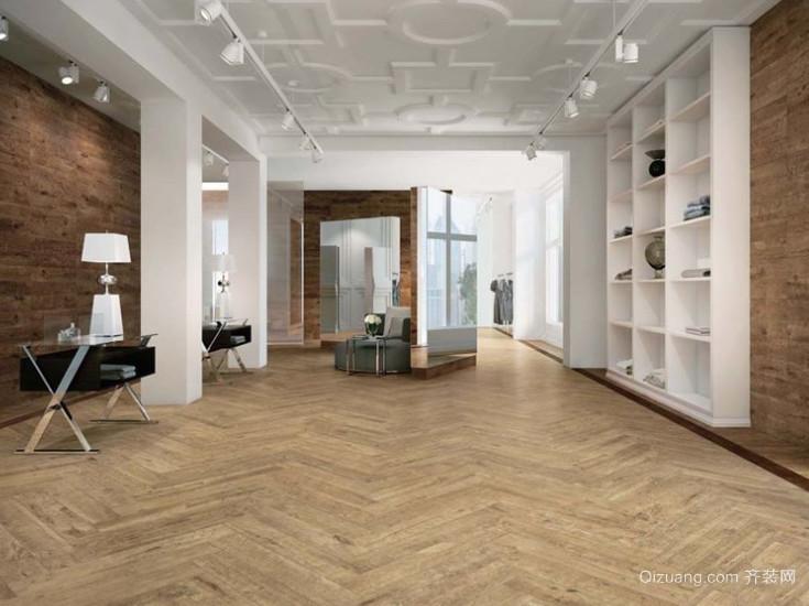 三室一厅圣象地板室内装修效果图