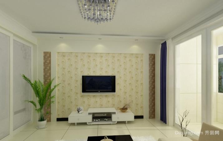 家居室内时尚简约电视背景墙装修效果图