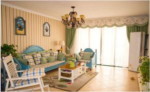 地中海家装客厅背景墙