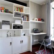 书房白色简洁书柜