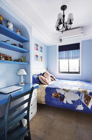 卧室精致蓝色小书桌