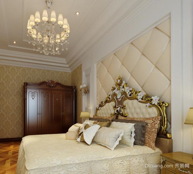 30平米奢华欧式卧室软包背景墙装修效果图