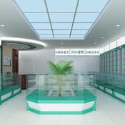 药品区简约透明色吊顶背景墙设计