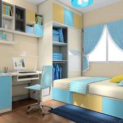 蓝白相间的卧室榻榻米