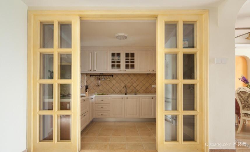 现代简约风格厨房隔断门装修效果图