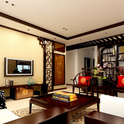 传统型跃层客厅装修