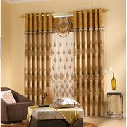 土豪金色的窗帘