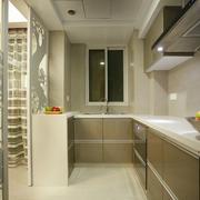 现代简约白色大户型厨房隔断门