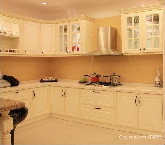 单身公寓现代田园风格厨房整体橱柜装修效果图