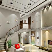 客厅现代化的楼梯