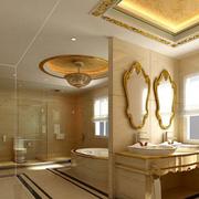 奢华欧式金色卫生间