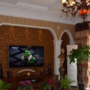 精致家居客厅电视墙壁纸