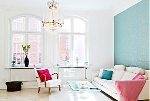 唯美风格公寓效果图片