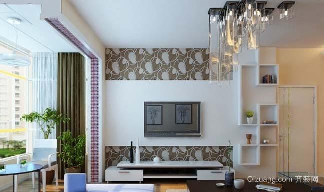 韩式客厅电视背景墙装修效果图