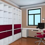 复式楼欧式简约白色小型书柜