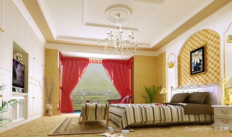 138平米精致奢华风格卧室背景墙设计装修效果图