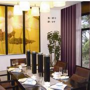紫色餐厅窗帘欣赏