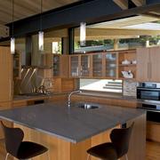 厨房简约实木橱柜