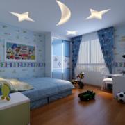 儿童房木地板效果图