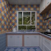 厨房彩色墙面瓷砖