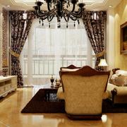 大户型家居客厅窗帘