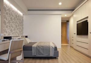 欧式精致单间公寓卧室背景墙装修效果图