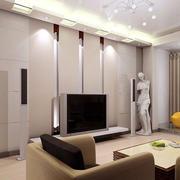 韩式现代清新混搭客厅背景墙