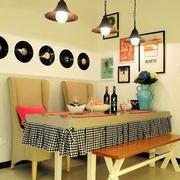 现代温馨餐厅餐桌椅