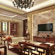 中式风格客厅电视墙