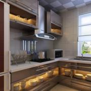 现代精美时尚型小户厨房