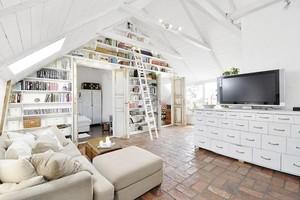 美式后现代小loft公寓装修效果图