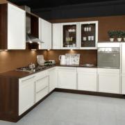 厨房咖啡色背景墙