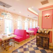 粉色可爱的餐厅