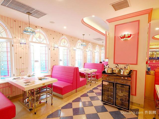 梦幻hello kitty主题餐厅室内装修设计图片