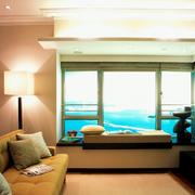 海景房飘窗窗帘展示