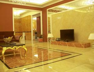 暖色调客厅地板砖