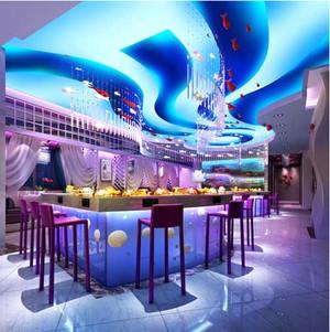 全新主题餐厅现代简约装修效果图