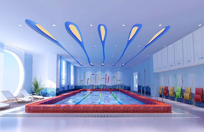 室内儿童游泳池装修设计效果图大全