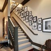 复式楼家居楼梯照片墙