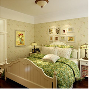 田园风格卧室壁纸设计