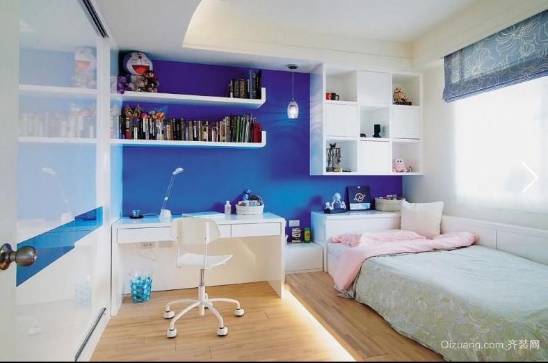 70平米现代时尚儿童卧室背景墙装修效果图