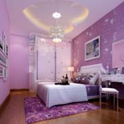 紫色浪漫的卧室