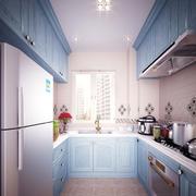 厨房蓝色橱柜欣赏
