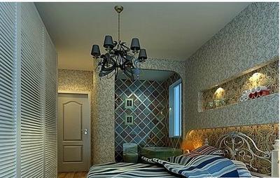 地中海臥室壁紙裝修效果圖