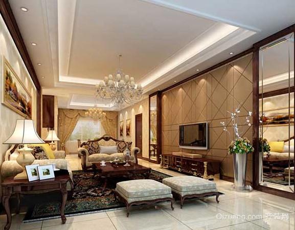 跃层式简约客厅中式住宅装修效果图